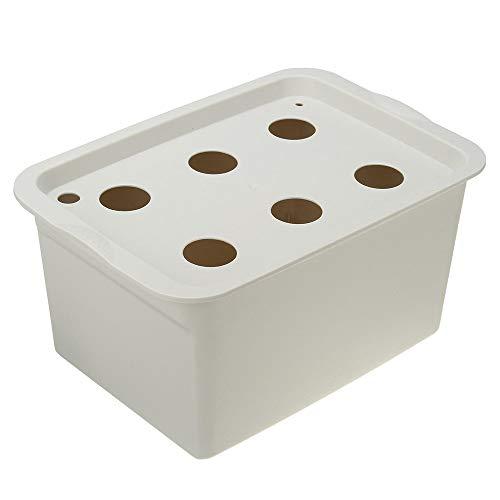 Kit de cultivo hidropónico 220V hidropónico crece la caja de 6 agujeros kit de sistema hidropónico DWC agua cubierta plantación de contenedores de 3 colores ( Color : Grey , tamaño : 28x19x14cm )