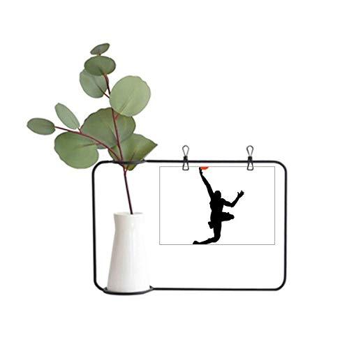 DIYthinker Sports Basketball Running Slam Dunk Moldura de metal para decoração de vaso de cerâmica