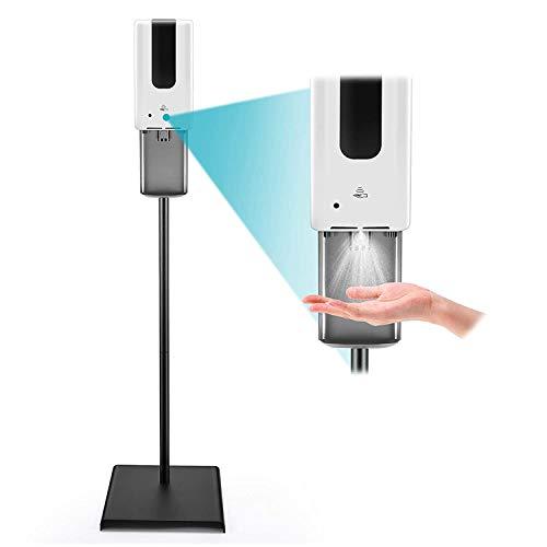 InLoveArts 1200ml Desinfektionsspender Sensor + Desinfektionssäule, tragbar und stabil, Auto-Sensing Seifenspender für Schulen, Hotels, Restaurants, Familien