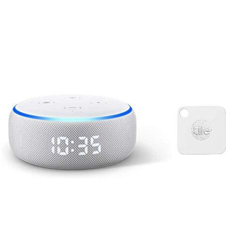 Echo Dot (エコードット)第3世代 - スマートスピーカー時計付き with Alexa、サンドストーン+Tile Mate 探し物を音で見つける クラウドGPS 日米シェアNo.1 スマートスピーカー対応