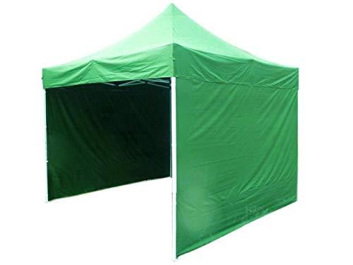 Bastionshop GAZEBO 3m x 3m waterproof GAZEBO MARKET STALL POP UP TENT Blue Black Green Beige Red Yellow White (Green)