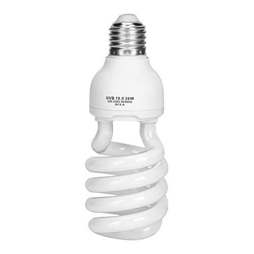 Unibell E27 26W UVB Rettile Light Bulb, Reptile Terrarium Lampadina, UVB Calcio Lampada Ultravioletta Lampadina UVB Fluorescente per rettili Reptile UVB 220-250V 10.0