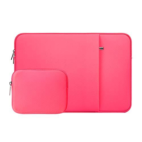 RAINYEAR - Funda para portátil de 16 pulgadas, funda protectora acolchada con bolsa para accesorios, compatible con Mac_Book Pro de 16 pulgadas, especialmente para A2141 (rosa brillante), color rosa
