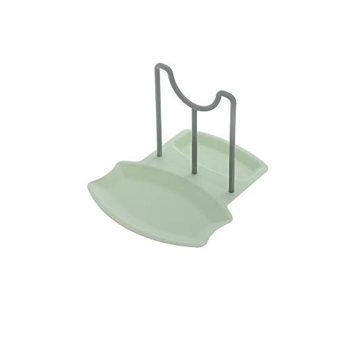 Lid and Spoon Rest AniU Pot and Pan Rack Lid Organiser Spoon Holder Cookware Storage Made of Food Grade Plastic for Kitchen Cabinets (Green)