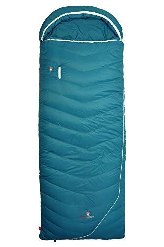 Grüezi-Bag Biopod DownWool Subzero Comfort Rechts Komfort Schlafsack, 225 x 80cm, bis Körpergröße 193 cm,Tkomf 4°C/Tlim -1°C, Packmaß 35 x Ø20 cm