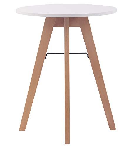 CLP Küchentisch Viktor I Esstisch Mit MDF Tischplatte I Bistrotisch Mit Buchenholzgestell 60 cm