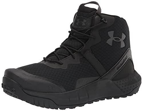 Under Armour Women's Micro G Valsetz Mid Military and Tactical Boot, Black (001)/Black, 8.5