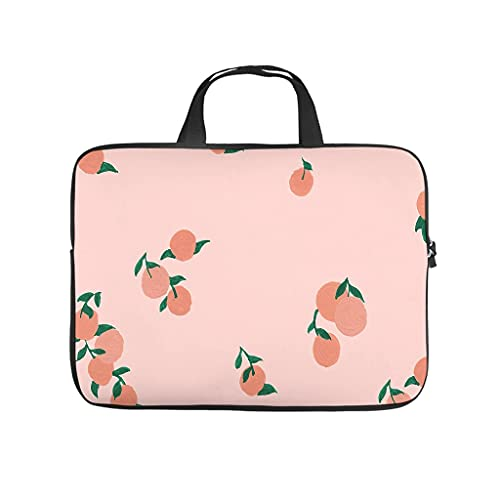 Bolsa para portátil con diseño de dibujos animados en la playa y frutas, resistente a los arañazos, ideal como regalo a medida, Blanco, 15 pulgadas,