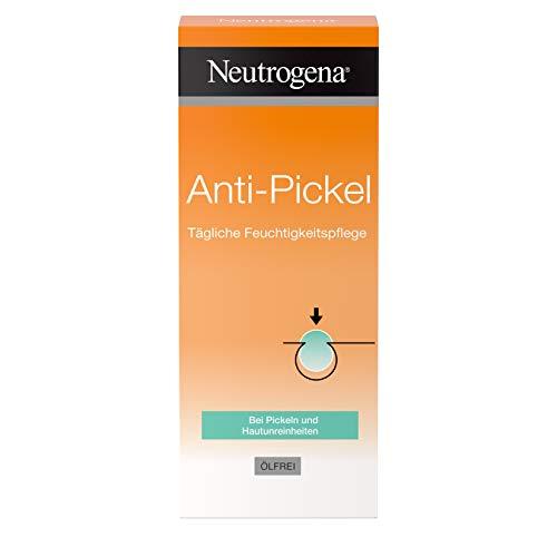 Neutrogena Anti-Pickel Gesichtscreme, Tägliche Feuchtigkeitspflege, mit Aloe Vera und Salicylsäure, ölfrei, 50ml