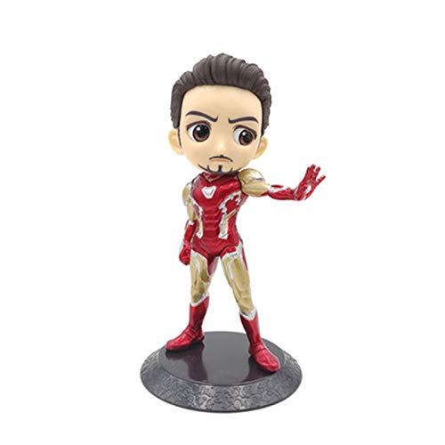 MUYANDZ Figura d'azione Q Posket 15cm Spiderman Iron Man Thor Action Figure Toys Bambola Amanti della Collezione di Bambole (Color : Iron Man 2)