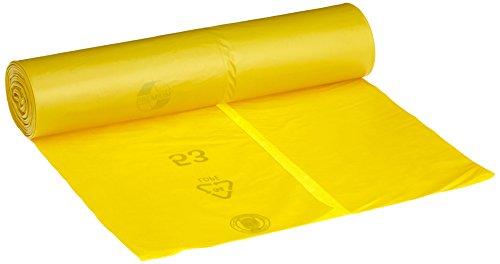 Sacchi della spazzatura DEISS Premium giallo tipo 60, 120 litri