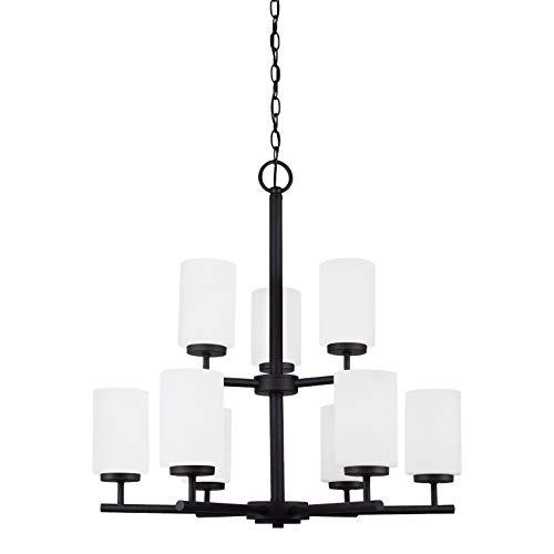Sea Gull Lighting 31162-839 Oslo Nine Light Chandelier, Blacksmith Finish