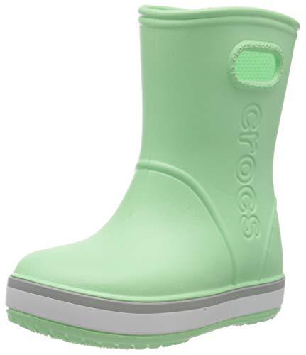 Crocs Crocband Rain Boot K, Botas Unisex niños, Neo Mint/Light Grey, 23/24 EU