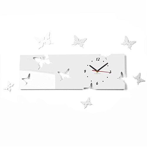 FLEXISTYLE l'horloge, Bois, Noir, 20 x 60 cm