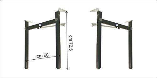 Kit 2 gambe pieghevoli cm 60 rinforzata per tavolo set birreria fai da te