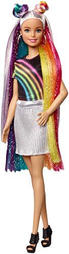 Barbie Destellos de Arociris, Muñeca rubia con cabello extra largo con accesorios para peinar, regalo para niñas y niños 3-9 años (Mattel FXN96) , color/modelo surtido