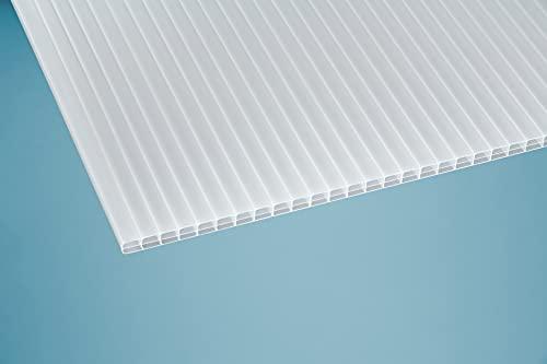 Plancha alveolar (16 mm, policarbonato opalino, doble capa, PC), color blanco