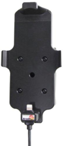 Brodit Aktiv-Halter mit Zertifiziertem Apple Ladekabel 521500 für Apple iPhone 5/5S/5C mit Skin