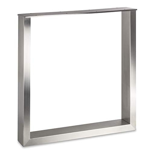 Sotech Tischgestell KUFE ECHT Edelstahl/Profil 80 x 40 mm/Höhe: 720 mm/Tiefe: 700 mm höhenverstellbar Tischuntergestell Tischkufe Tischbein Tischfuß von SO-TECH®