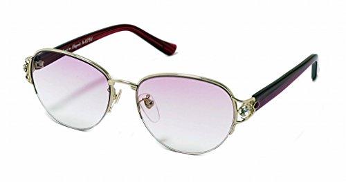 累進多焦点遠近両用老眼鏡(境目のない遠近両用メガネ) A075B 2色 6度数 (+2.00, バイオレットハーフ)
