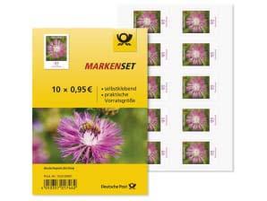 Markenset 10x0,95€ Briefmarken Flockenblume