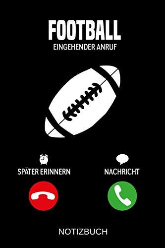 Football Eingehender Anruf: A5 Notizbuch | Liniert 120 Seiten | Geschenk/Geschenkidee zum Geburtstag | Weihnachten | Ostern | Vatertag | Muttertag | Namenstag