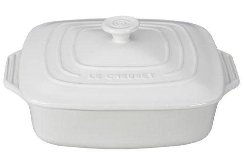 Le Creuset Stoneware Covered Square Casserole, 2.75 qt. (9.5'), White