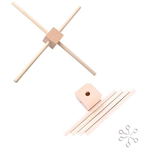 let's make DIY Baby Mobiler Holzrahmen Aufhänger Kindergarten Mobiles Kit Rahmen Krippe