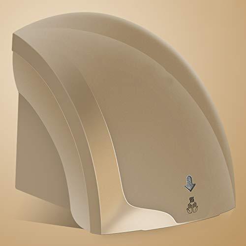 NanXi Mini Handtrockner zur Wandmontage, Schnell Trocknend und Energiesparend für Gewerbe, 2000w,Braun