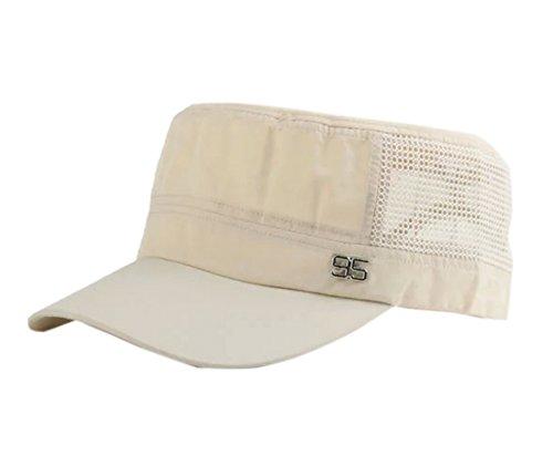 Elonglin Unisex Baseball Hut Sonnenschutz Mützen Sommer Kappe Beige