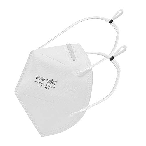 Mayfair N95 Mask 5 Layer with Nose Pin, Made in India (Headband Mask, Item Package Quantity 5)