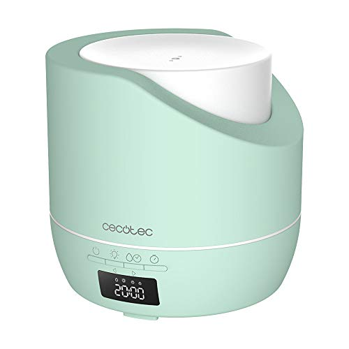 Cecotec Difusor de aroma PureAroma 500 Smart Sky. Capacidad 500ml, Pantalla LED, Temporizador 12h, Despertador, 3 Modos de funcionamiento, Cobertura 30m2