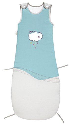 P'tit Basile Saco grande evolutivo de algodón ecológico, ajustable en longitud, diseño bordado de la colección «Dans les nuages»,(80-105cm) para bebés de 6a...