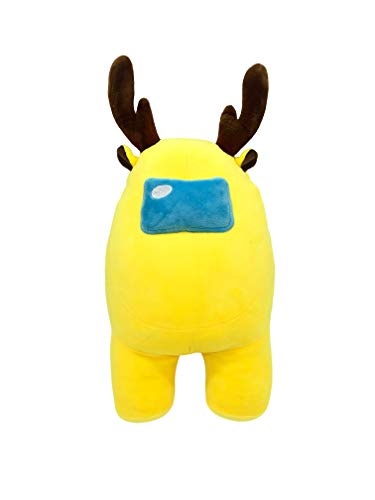 "Among Us Plush- Multicolor (11"") - Among Us Merch Crewmate- Reindeer, Santa Claus Soft Plush - Stuffed Doll - Plush Toy - Game Fans - Kids Gift Cute Stuffed Animal( Yellow)"