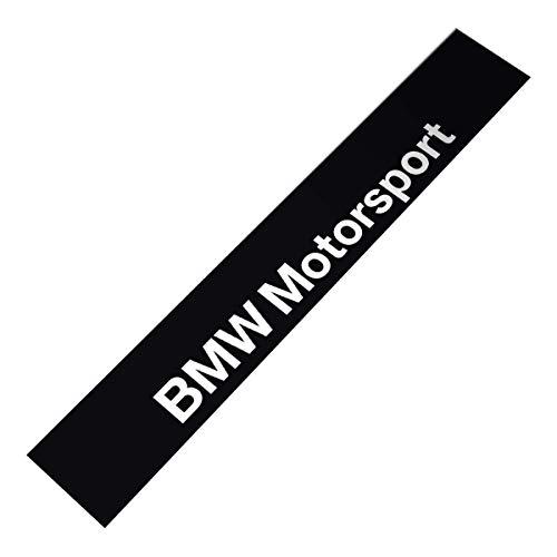 Demupai - Windschutzscheibe Banner Aufkleber Vinyl - Aufkleber für Motorsport - Zubehör (Matte Schwarzen Hintergrund)