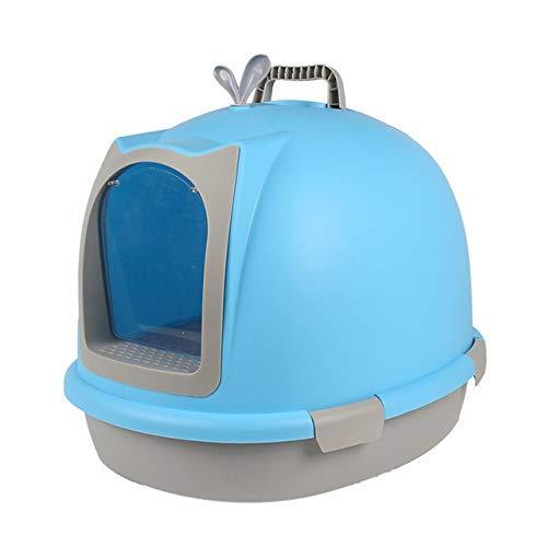 ZHANGYY Style à Capuchon bac à litière pour bac à litière bac à litière bac à litière Rabattable Gris foncé Blanc Pan Toilette Filtre à Charbon Deep Large Jumbo Multicolore XXL Bleu Pet AV