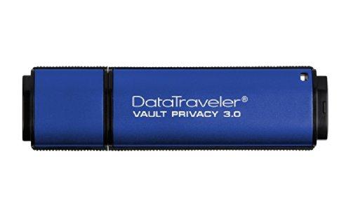 Kingston DTVP30 64GB Speicherstick USB 3.0 (256-Bit: Hardwareschlüsselung) blau