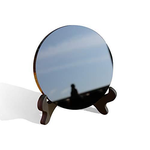 Vranky 3.9' 10cm Black Obsidian scrying Mirror Alchemy/Yoga Energy