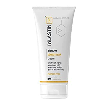 TriLASTIN-SR Intensive Stretch Mark Cream - Hypoallergenic Paraben-Free Formula to Help Minimize the Appearance of Stretch Marks - 5.5 oz.