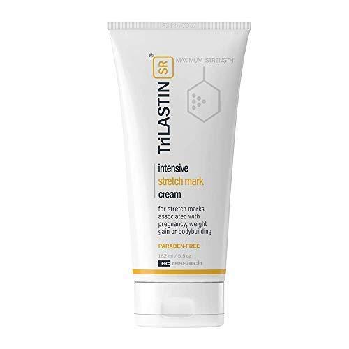 TriLASTIN-SR Maximum Strength Stretch Mark Cream, Unscented, 5.5 fl oz. - Hypoallergenic, Paraben-Free Formula