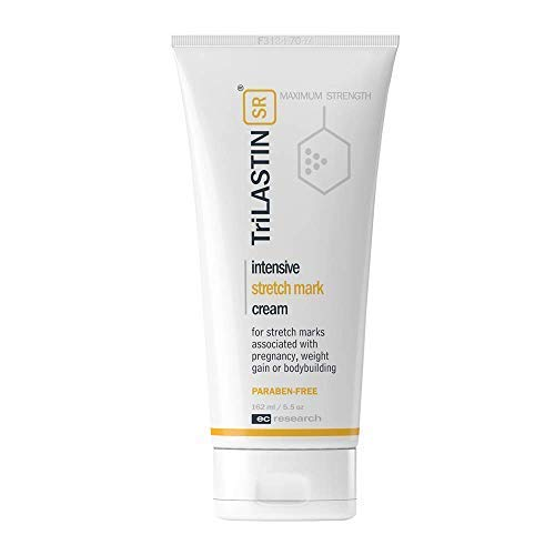 TriLASTIN-SR Intensive Stretch Mark Cream - Hypoallergenic, Paraben-Free Formula to Help Minimize the Appearance of Stretch Marks - 5.5 oz.