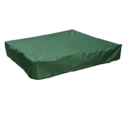 DEARLIVES Sandpit Cover, Green Waterproof Anti UV Sandbox Cover with Drawstring for Sandpit, Toys, Swimming Pool and Furniture, Square Pool Cover