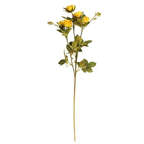 Mamum Fleur Artificielle Fleur de Pivoine Artificielle pour Le décor de Maison de Noce Fausses Fleurs Bouquet de mariée (Jaune)
