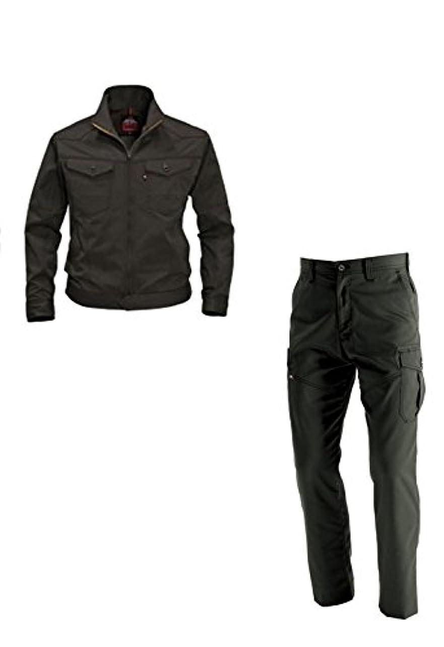 ループブローホール剥ぎ取るバートル BURTLE(1501,1502) ザック Sサイズ 作業服 上下セット (長袖ブルゾン+カーゴパンツ)  男女兼用