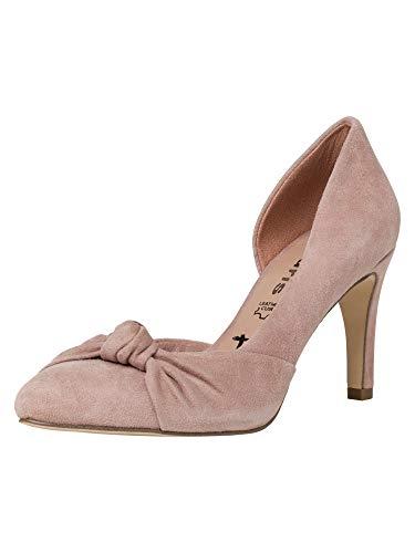 Tamaris Damen Pumps 22453-34, Frauen KlassischePumps, Abend Feier Court-Shoes Absatzschuhe Abendschuhe stöckelschuhe,Old Rose,41 EU / 7.5 UK