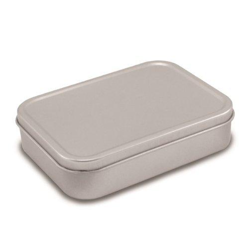 Scatola Porta Tabacco Tradizionale in Latta, Colore Argento, 125 ml