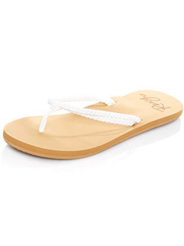 Roxy Costas, Scarpe da Spiaggia e Piscina Donna, Bianco (White Wht), 38 EU