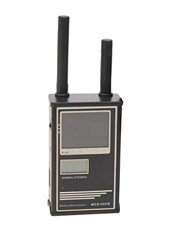 WCS - 99 XII Mobiler Funkscanner Funkdetektor zum Aufspüren von Abhörwanzen und Funkkameras, Zeig Bilder einer Funkkamera auf einem kleinen LCD Bildschirm mit Ton an, Breite Frequenzabdeckung von Kobert-Goods