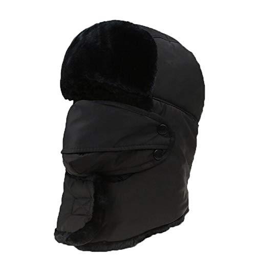Koud Masker, Wielrennen, Koude Hoed Masker, Mannelijke Elektrische Motorfiets, Volledig gezicht, Winddicht Masker, Winter Warm Rij-apparatuur Zwart