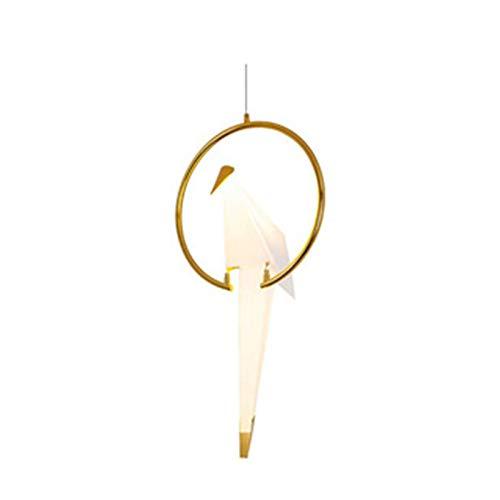 Lámpara de grúa de papel geométrica para colgar pájaros, galjanoplastia grande, decoración de arte, luz cálida para bar hogar, 6 W, 80/82 x 35 cm
